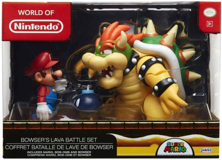 A Nintendo Super Mario and Bowser diorama is pictured
