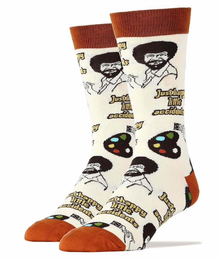 Bob Ross socks.