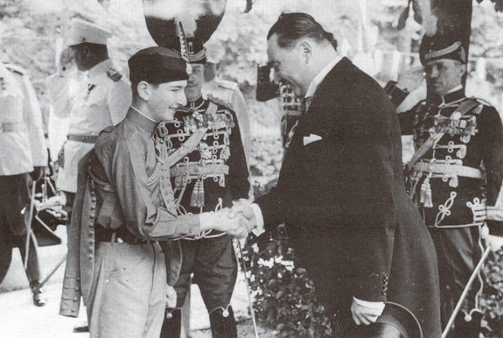 A photograph of King Peter II of Yugoslavia