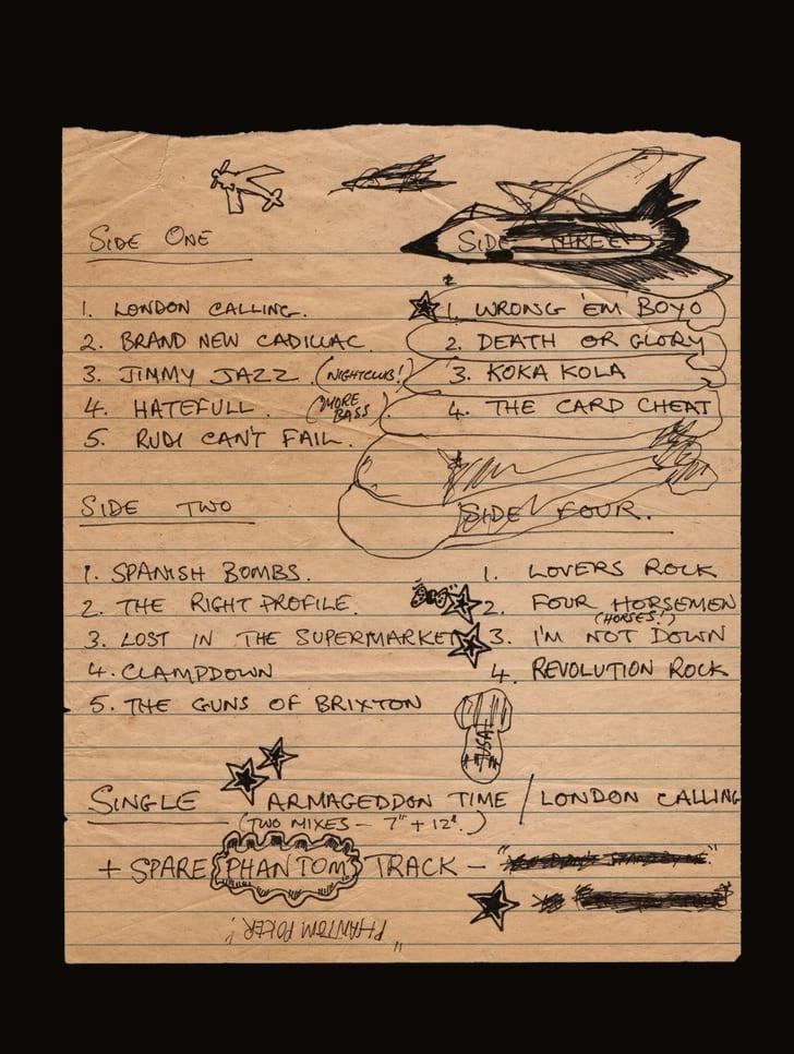 mick jones's track listing for the london calling album
