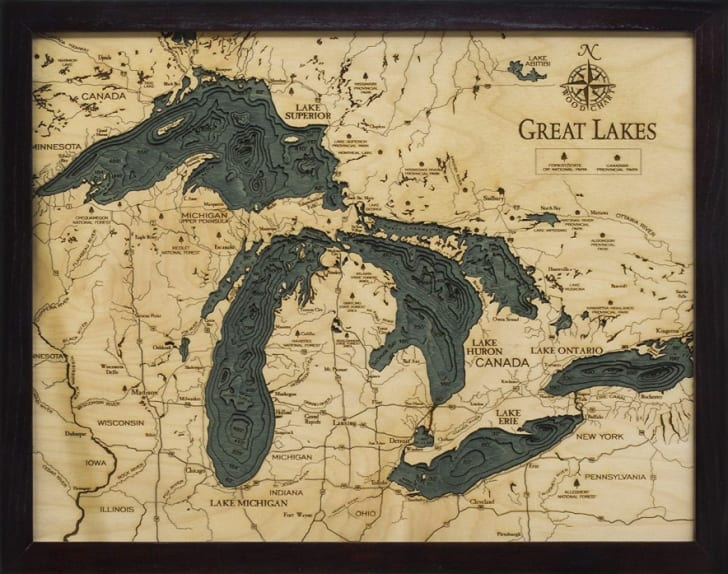 Great Lakes 3D nautical chart