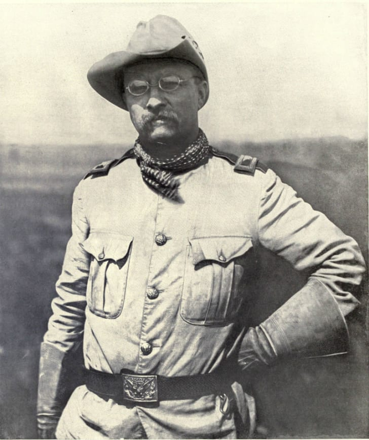 Theodore Roosevelt is pictured in uniform