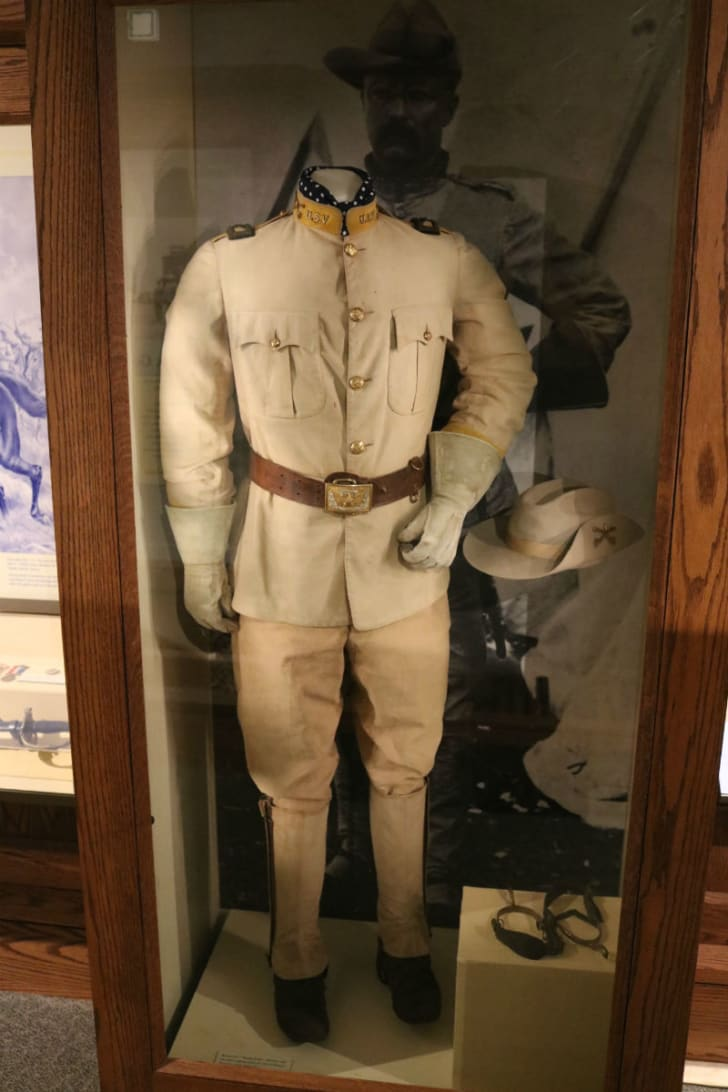 Theodore Roosevelt's Rough Riders uniform is pictured on display at Sagamore Hill