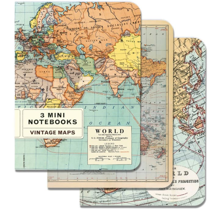 Three map notebooks
