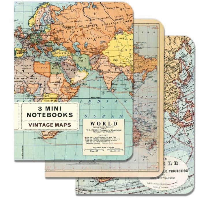 Three map notebooks
