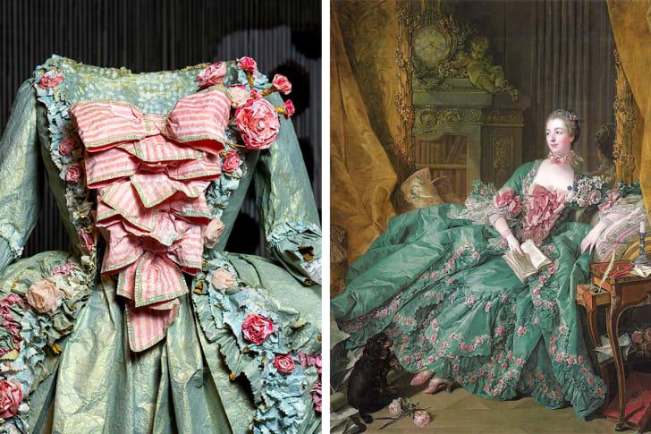 portrait of madame de pompadour with isabelle de borchgrave's paper replica