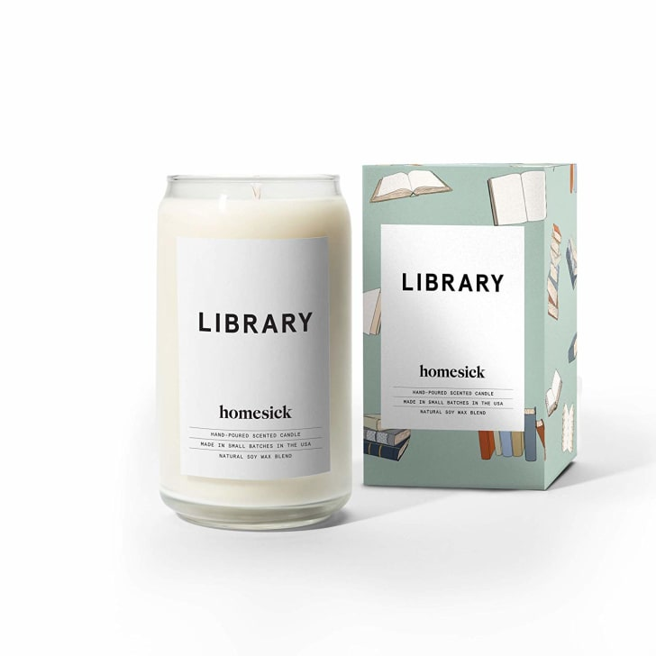 homesick library candle