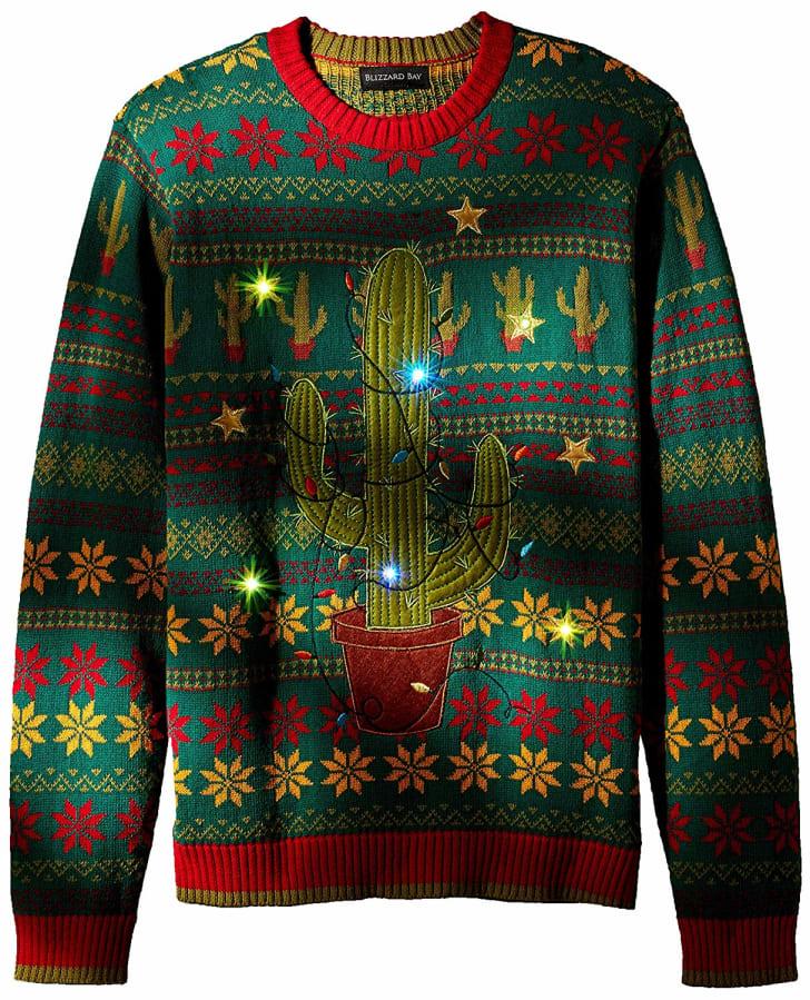 cactus ugly christmas sweater