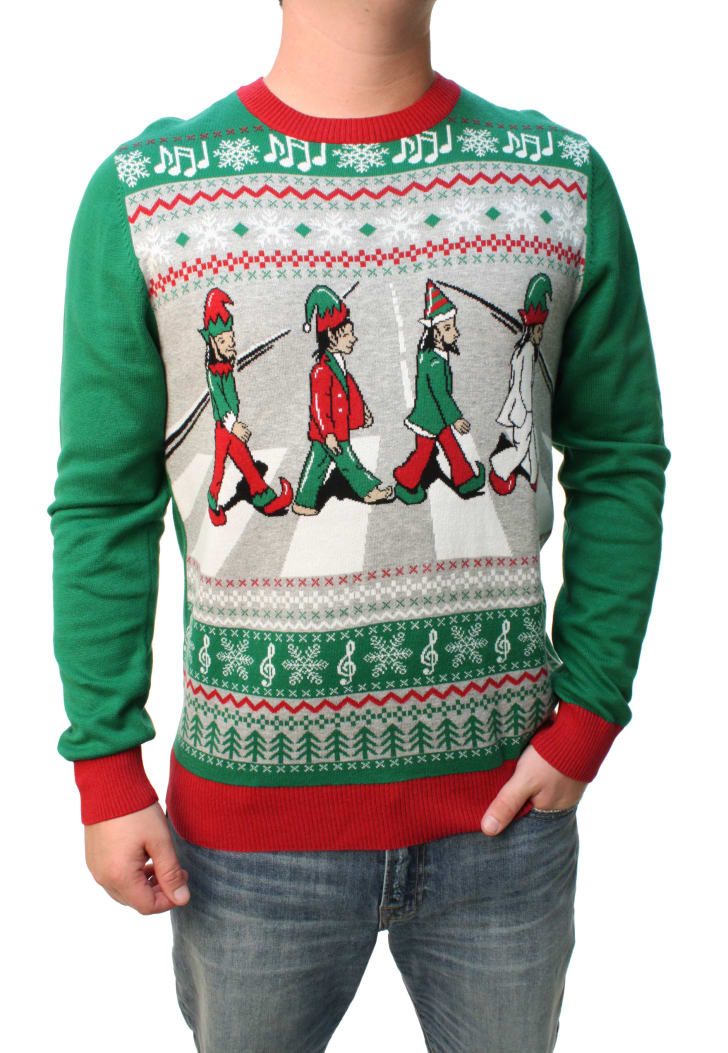 abbey road ugly christmas sweater