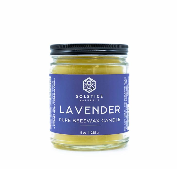 Solstice Naturals Lavender 100% Pure Beeswax Aromatherapy Candle