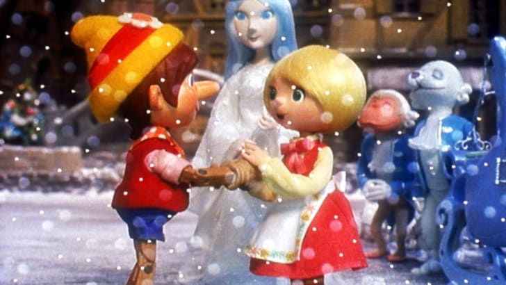 Scene from Pinocchio's Christmas.
