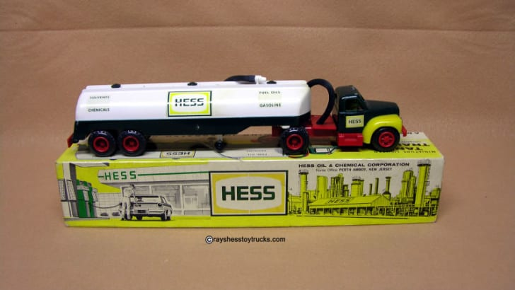 A 1964 Hess Tanker Truck is pictured
