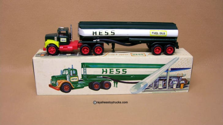 A 1967 Hess 'Woodbridge' Tanker Truck is pictured