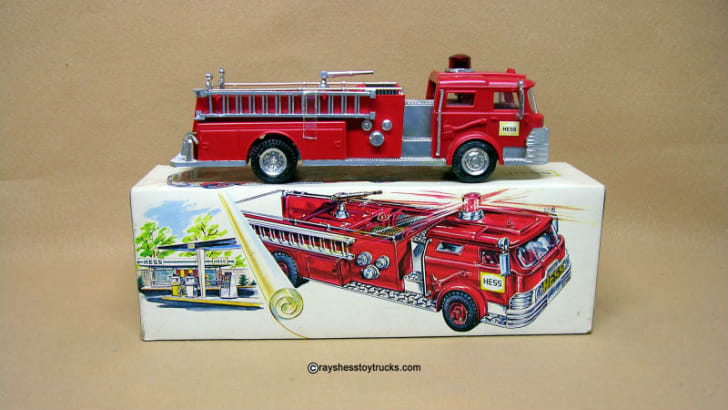 A 1970 Hess Fire Truck is pictured