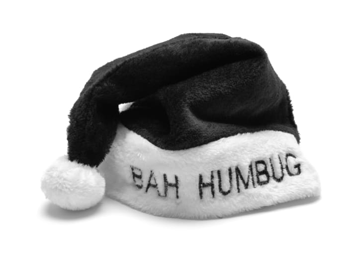 Black bah humbug holiday hat