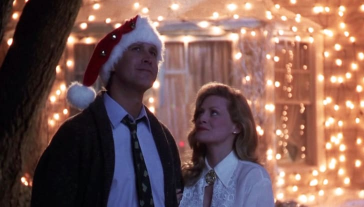 Chevy Chase and Beverly D'Angelo in National Lampoon's Christmas Vacation (1989)