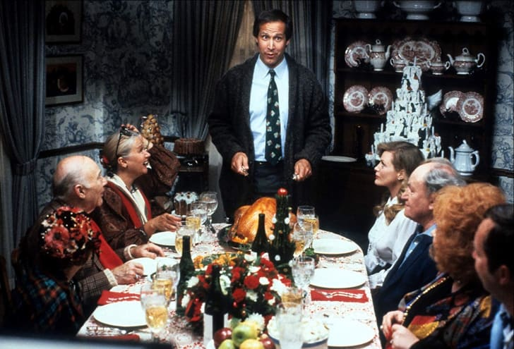 Chevy Chase, Beverly D'Angelo, Diane Ladd, Doris Roberts, E.G. Marshall, and John Randolph in National Lampoon's Christmas Vacation (1989)
