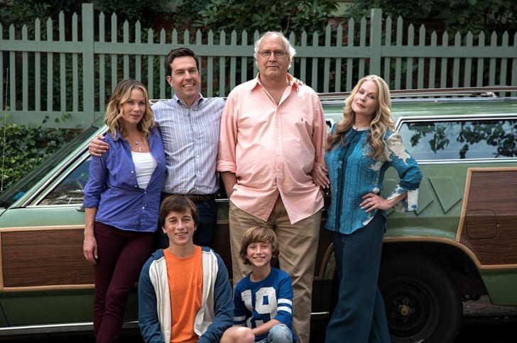 Chevy Chase, Beverly D'Angelo, Christina Applegate, Ed Helms, Skyler Gisondo, and Steele Stebbins in Vacation (2015)