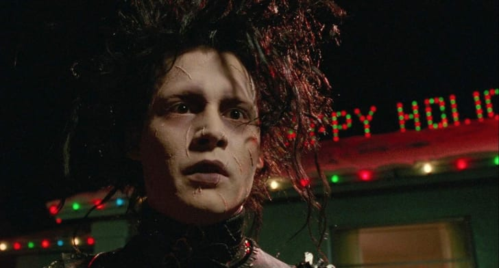 Johnny Depp stars in 'Edward Scissorhands' (1990)