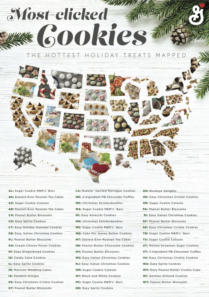 general mills christmas cookies map