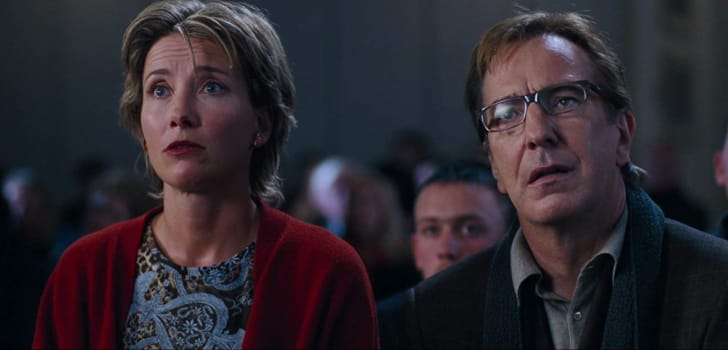 Alan Rickman and Emma Thompson in Love Actually (2003)