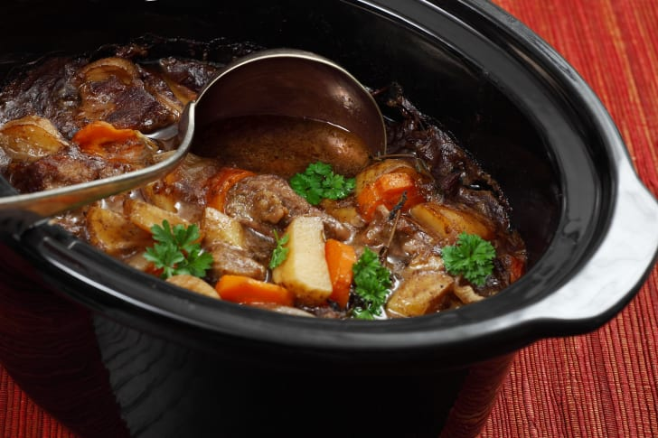 Stew in a slow cooker