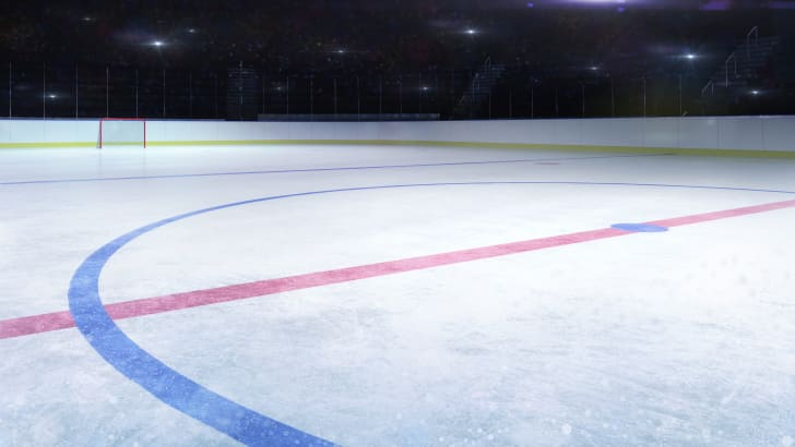 An ice hockey rink