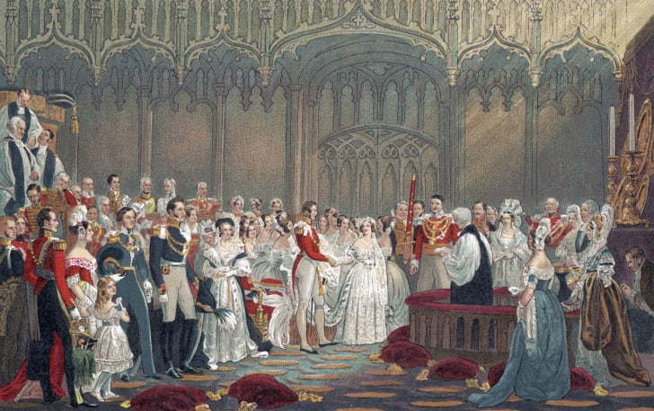 Queen Victoria of England - Her Majesty 's wedding to Prince Albert in 1840