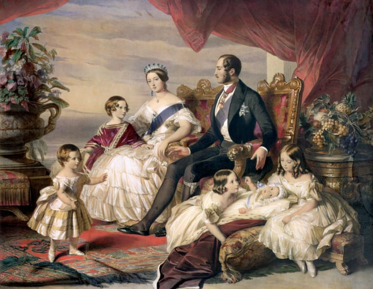 Queen Victoria And Prince Albert With Five Of Their Children in 1846