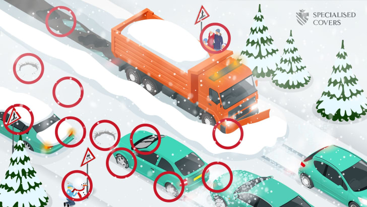 Solutions to winter road hazards puzzle.