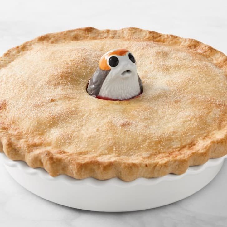 Le Creuset porg pie bird from William Sonoma.