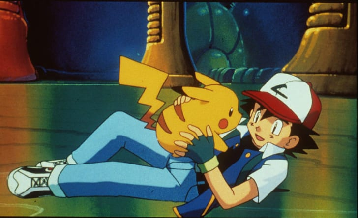 Pikachu (L) and Ash (R) appear in a scene from 1998's 'Pokémon: The First Movie'