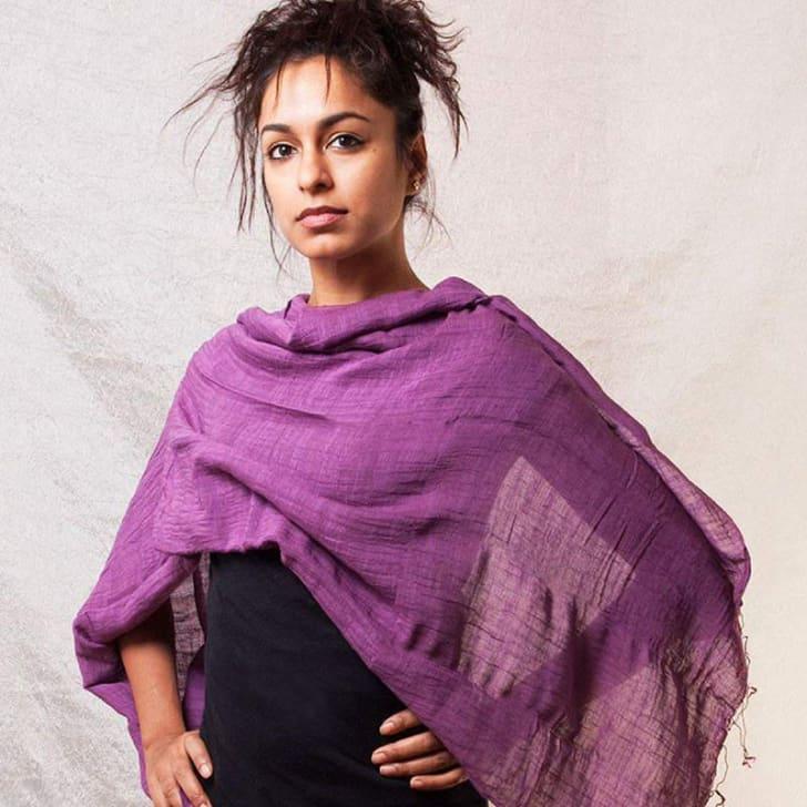 Wrap-around shawl
