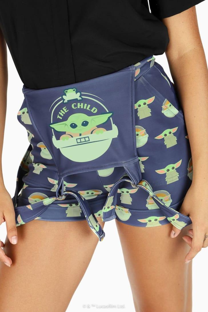 Baby Yoda overalls.