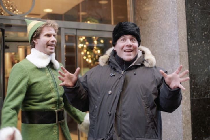 Jon Favreau directs Will Ferrell in 'Elf' (2003)