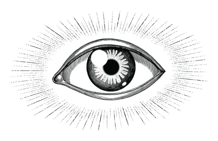 An illustration of an eye is pictured
