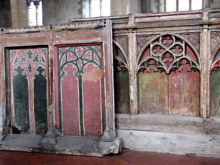 An ancient rood screen found in England.