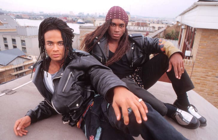 Milli Vanilli, portraits, London, 27 September 1988, L-R Rob Pilatus, Fab Morvan