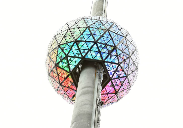 The iconic Times Square New Year's Eve Ball in 2017