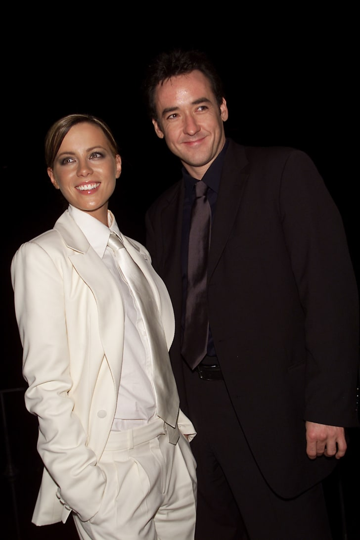 """Co-stars Kate Beckinsale and John Cusack at the after-party for the New York film premiere of Miramax's """"Serendipity"""" at The Boathouse in Central Park, New York City"""