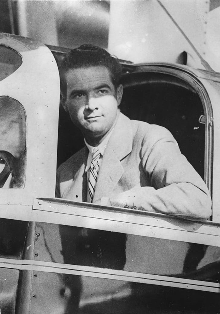 The American film producer and record flight pilot Howard Hughes. About 1930