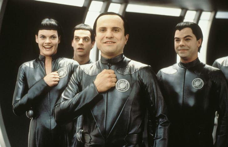 Patrick Breen, Enrico Colantoni, Missi Pyle, and Jed Rees in Galaxy Quest (1999)
