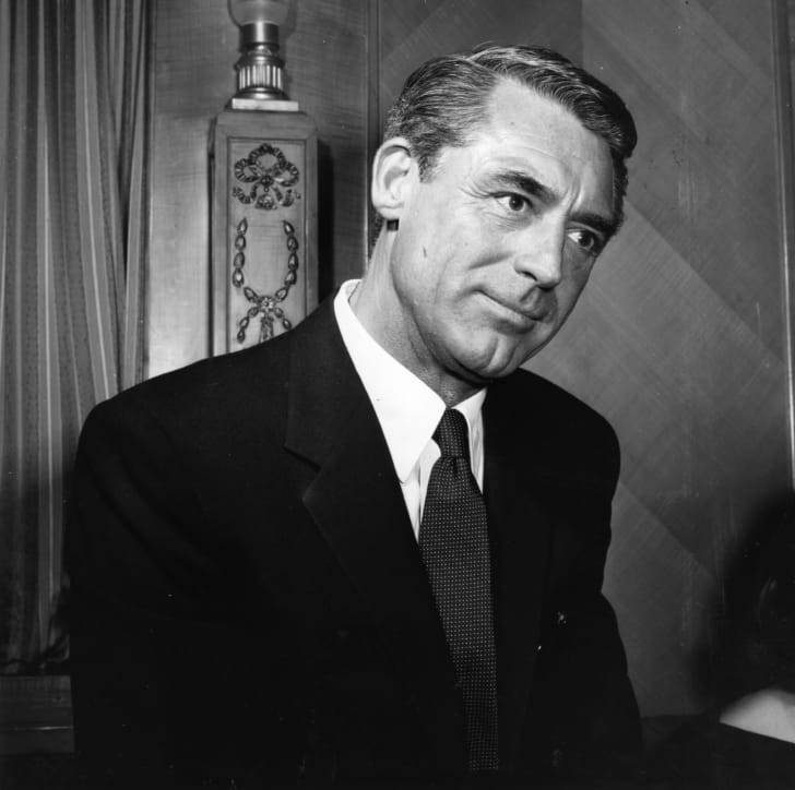 British film actor Cary Grant, originally named Archibald Leach (1904 - 1986)