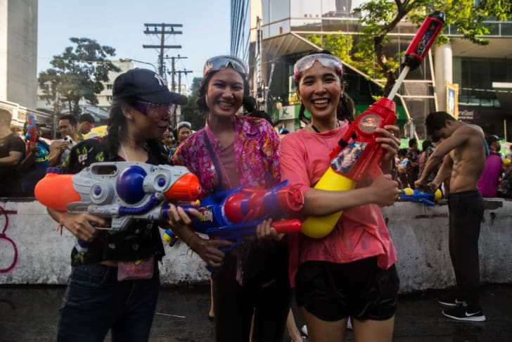A celebration of Songkran, Thailand's New Year celebration, which is held every April.