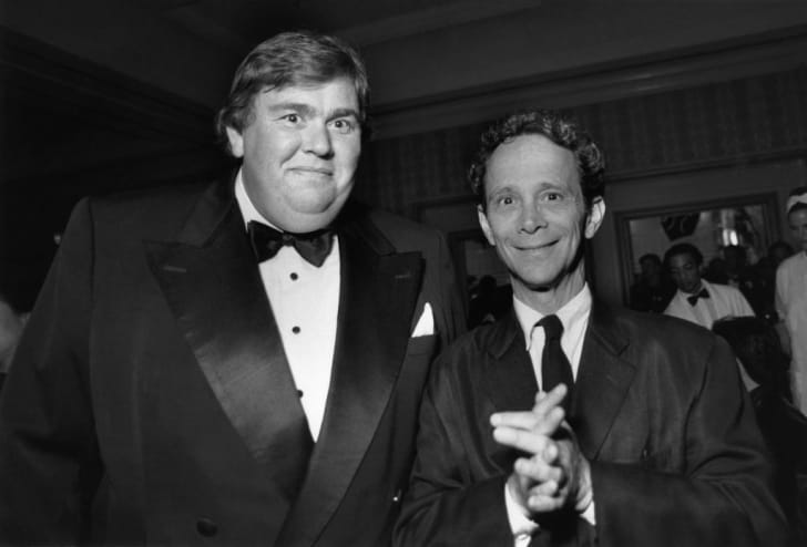 Actors John Candy and Joel Grey attend the American Comedy Awards at the Shrine Auditorium in Los Angeles, California