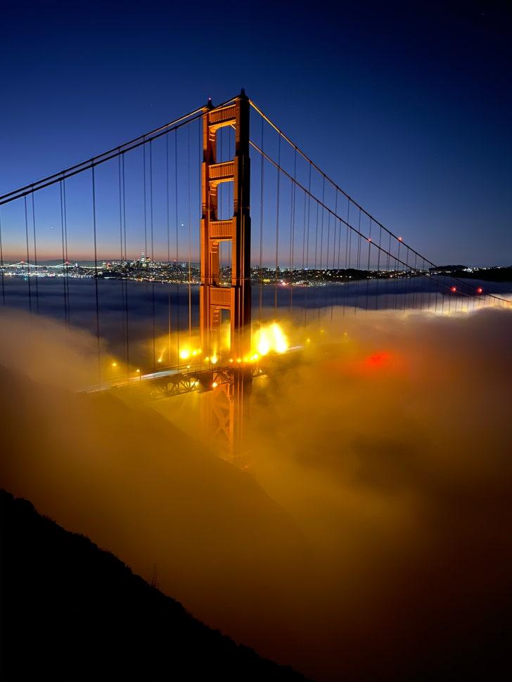 golden gate bridge shot on iphone 11