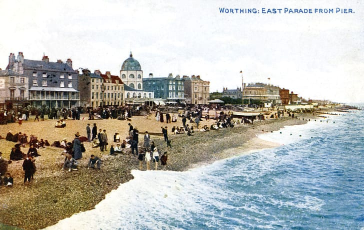 East Parade from the pier, Worthing, Sussex, early 20th century