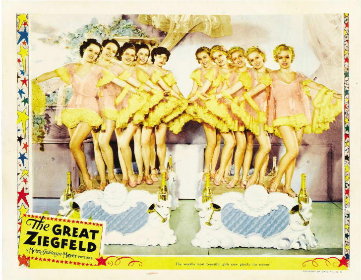 A lobby card for Robert Z. Leonard's 'The Great Ziegfeld'