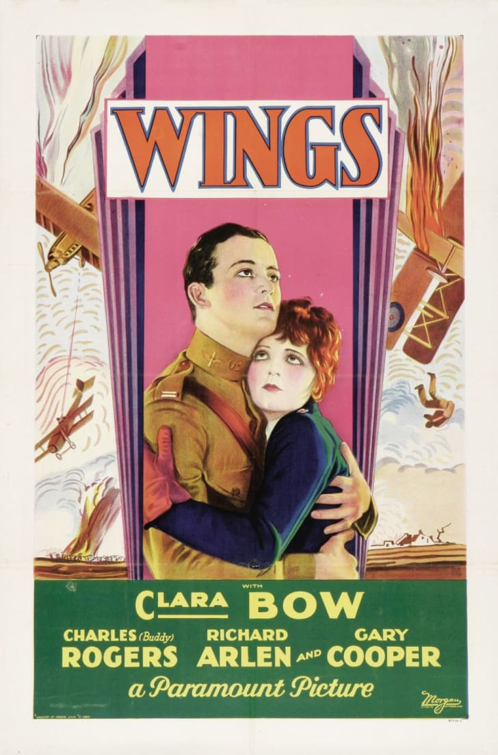 Movie poster for William A. Wellman's 'Wings' (1927)