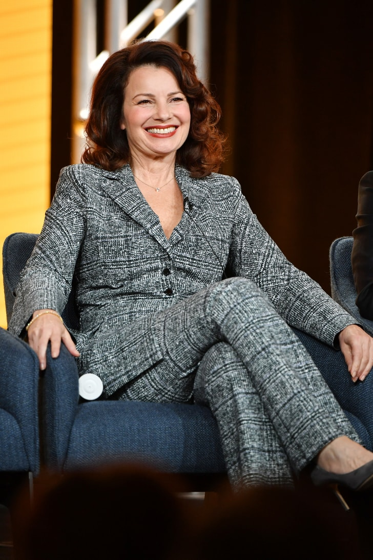 """Fran Drescher of """"Indebted"""" speaks during the NBCUniversal segment of the 2020 Winter TCA Press Tour at The Langham Huntington, Pasadena on January 11, 2020 in Pasadena, California."""
